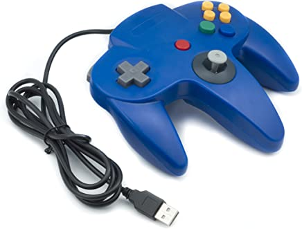 QUMOX NINTENDO 64 N64 GAMES CLASSIC GAMEPAD CONTROLLERS FOR USB TO PC/MAC BLUE