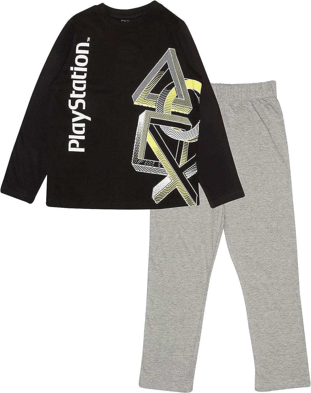 Playstation Iconos Chicos Larga Pijamas Set Negro 122 ...