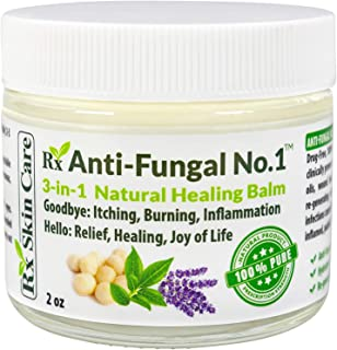 Rx SkinCare Antifungal Cream – Antiseptic Treatment for Ringworm Athletes Foot & Jock Itch – Itch Skin Care with Tea Tree & Eucalyptus Oil – Antimicrobial & Hydrating Foot Balm – Fungus Feet Ointment