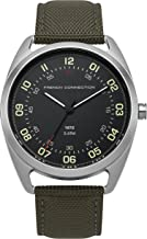 French Connection Men's Quartz Watch with Nylon Strap, Green, 20 (Model: FC1308BN)