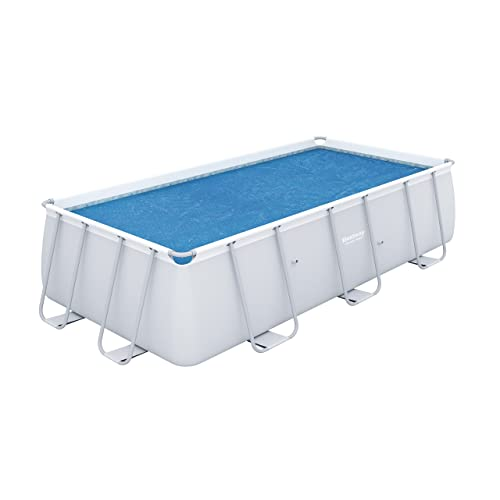 Bestway 58240 - Cobertor solar Manta Térmica para piscinas rectangulares, 380 x 180 cm