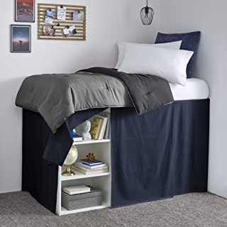 High Kotton Tailored Bedskirt 8 inch Drop TwinXL Aqua Blue Bed Skirt with 800 Thread Count Available in 22 Colors