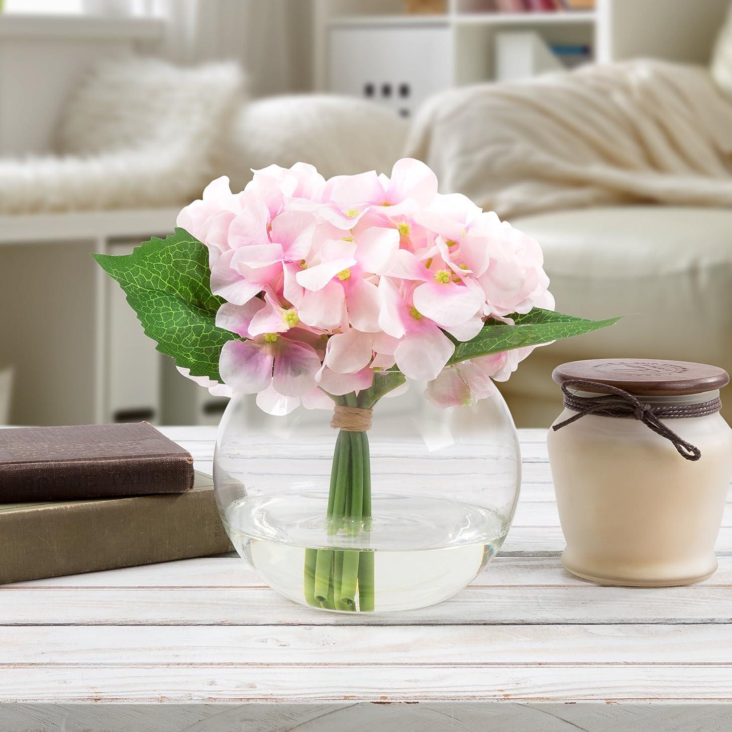 Pure Garden 50-138-PINK Silk Floral Arrangement, Pink