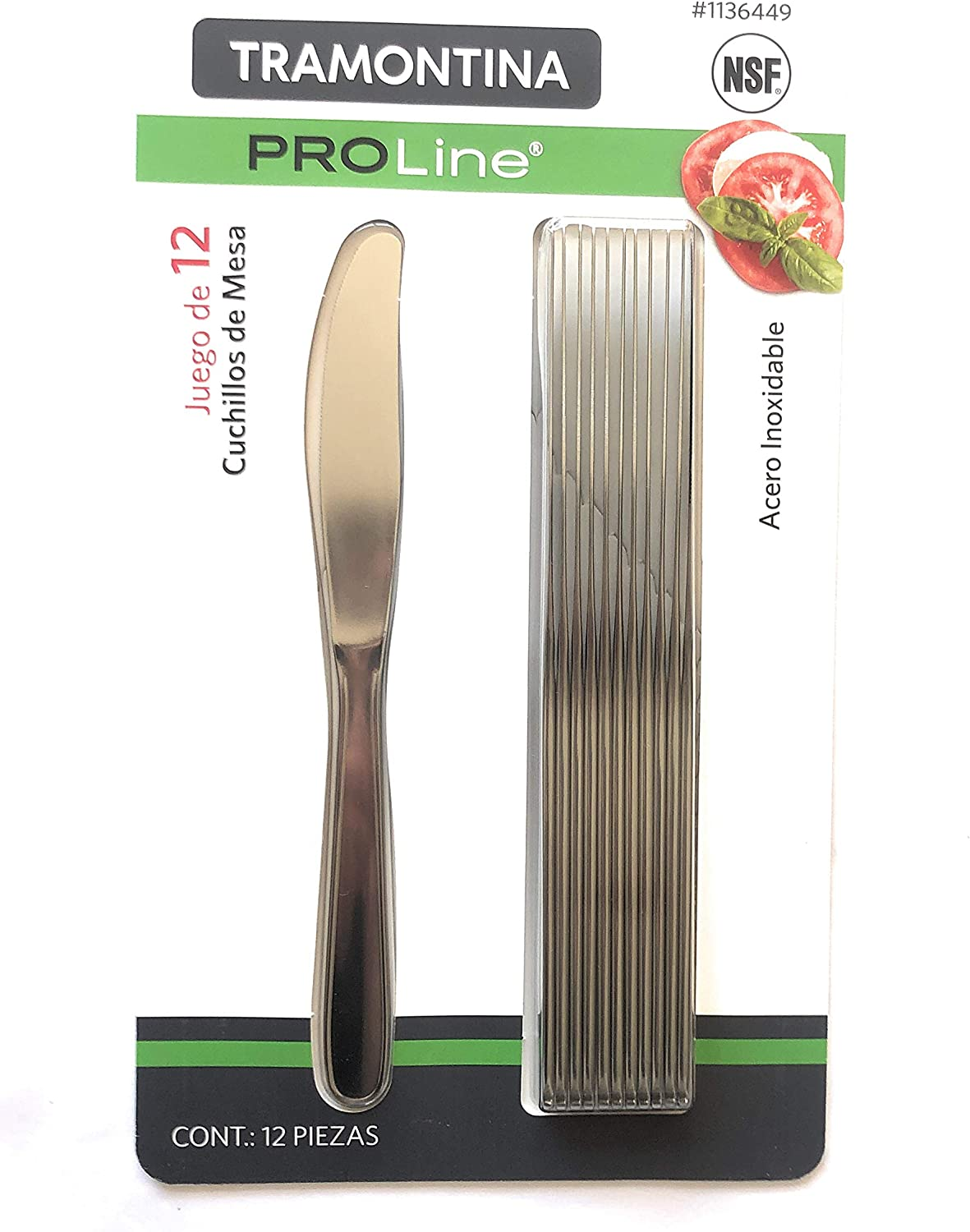 Tramontina PROLine 12 Pack Knives Dinner Stainless New Shipping Free Shipping Steel Sales results No. 1