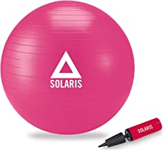 Solaris Unisex Pilates Egzersiz Topu 65 Cm Slr114, Pembe, Tek Beden, Plts-Tp-65Cm-Slr114