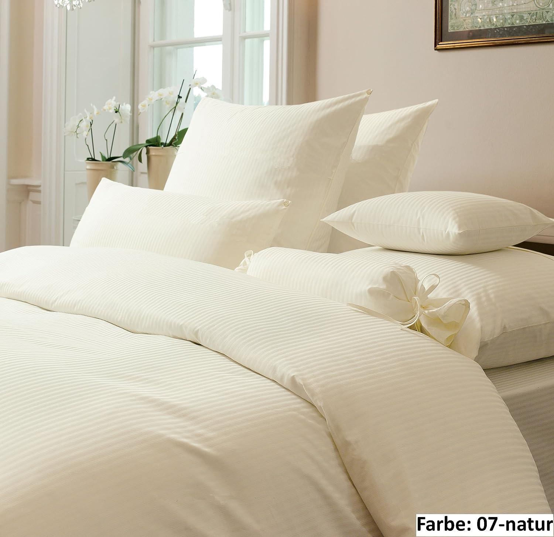 Rubin argenté lisse-parure de lit de la marque janine - 155 x 200 cm-argent
