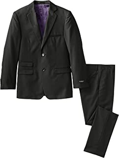 Isaac Mizrahi Black Label Big Boys' Slim-Fit Wool-Blend 2 Piece Suit