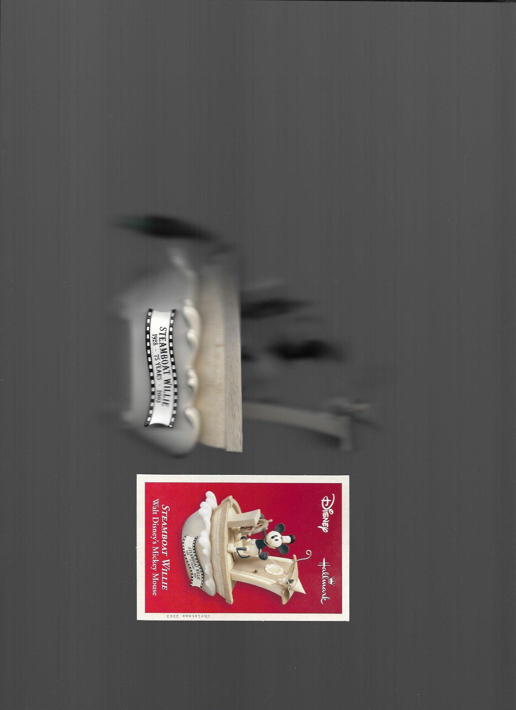 qxd5047蒸汽船 Willie walt 米奇老鼠2003Hallmark 纪念品声音和运动装饰品