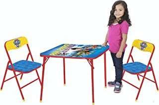 Nickelodeon Paw Patrol 3-Piece Kids Table & Chair Set Toy