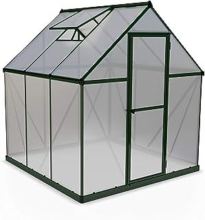 Palram HG5006G Mythos Hobby Greenhouse, 6' x 6' x 7', Forest Green