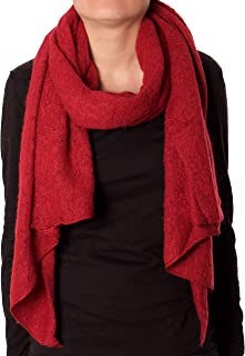 Eitex Damen offener kuscheliger Schal XXL Schal sanftes Material Viskose und Wolle Gemisch warm Stola