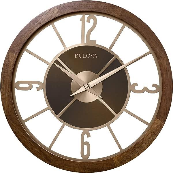 Bulova C4110 Sandpiper Outdoor Indoor Bluetooth Wall Clock Natural Wood