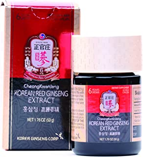 KGC Cheong Kwan Jang [Korean Red Ginseng Extract] for Extra Strength, Energy, Performance, Immune System Booster, Natural Energy Stamina, Blood Circulation and Mental Health Support - 50g