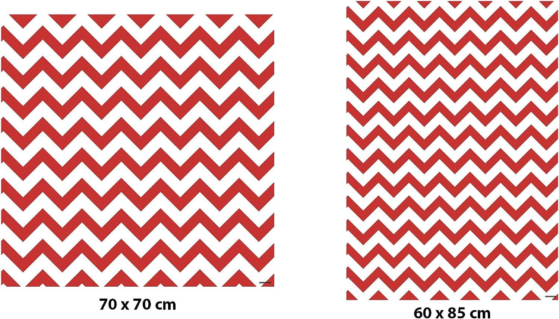 Adhesivo Resistente y de F/ácil Aplicaci/ón Vinilo para Lavadoras Zigzag Rojo Pegatina Adhesiva Decorativa de Dise/ño Profesional Varias Medidas 60x85cm
