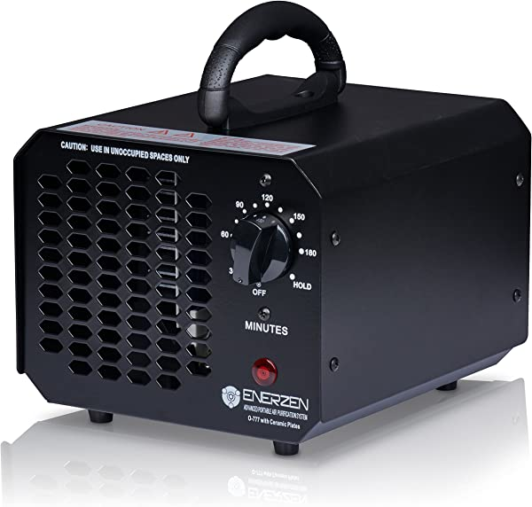 Enerzen Commercial Ozone Generator 6 000mg Industrial O3 Air Purifier Deodorizer Sterilizer 6 000mg Black