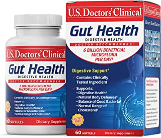 U.S. Doctors' Clinical Gut Health Digestive Supplement with 6 Billion Bacillus Coagulans Probiotics Per Serving – Previous...