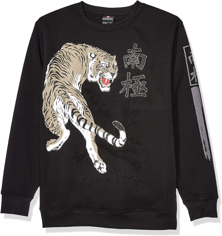 Southpole Boys' Big Fleece Crewneck Sweatshirt: Clothing