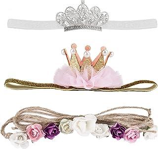 Baby Hair Bands Baby Girls Crown Headbands Elastic Toddler Princess Hair Bands Accessory Infant Girl Tiara Headband Gift P...