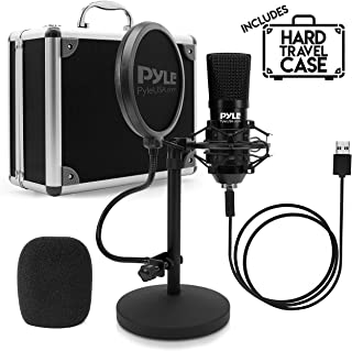 USB Microphone Podcast Recording Kit - Audio Cardioid Condenser Mic w/Desktop Stand and Pop Filter - for Gaming PS4, Strea...