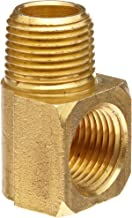 Anderson Metals Brass Pipe Fitting, 90 Degree Barstock Street Elbow, 1/4