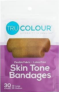 Tru-Colour Skin Tone Bandages: Dark Brown-Black Single Pack (30-Count; Purple Bag)