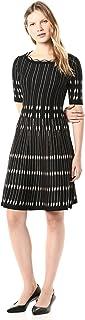 Taylor Dresses Women's Short Sleeve Geometric Print Sweater Dress