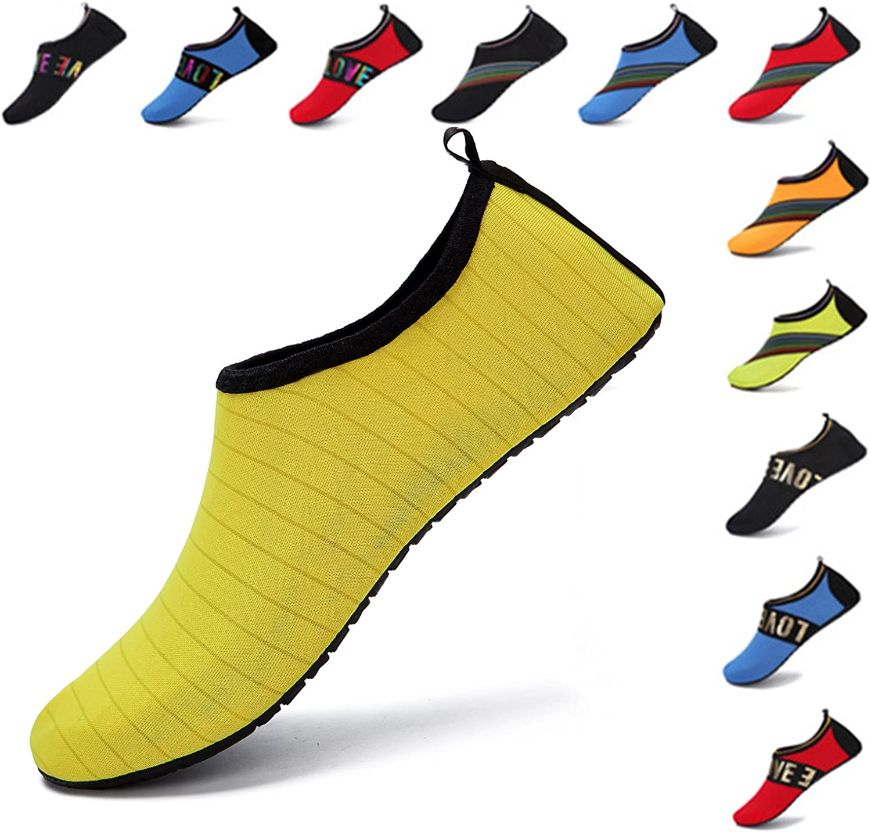 WXDZ Womens Mens Water shoes Quick-Dry Barefoot Aqua Socks for Swim Beach Surf Pool Yoga