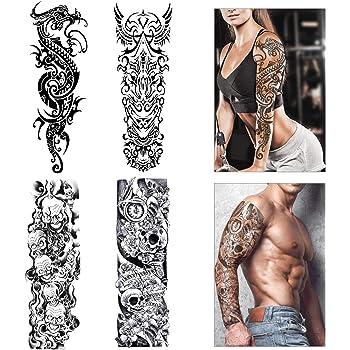 Manchettes Sports Et Loisirs Xingsiyue Ensemble De Manchette Temporaire De Tattoo Stocking Faux Tatouages Manches Bras Glissement Homme Femme Stocking