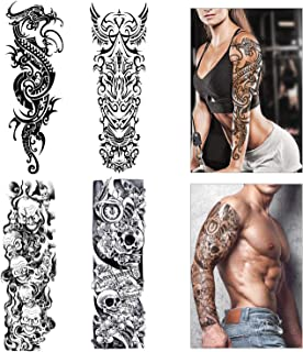 Full Arm temporäre Tattoos, Konsait extra temporär Tätowi