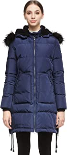 Women's Winter Thicken Down Coat with Removable Hood