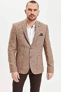 DeFacto Mendil Detaylı Modern Fit Blazer Ceket Bej 48