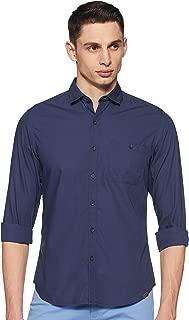 John Players Men's Solid Slim Fit Casual Shirt
