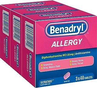 Benadryl Allergy Ultratab Tablets, Pack of 1, 144 Count
