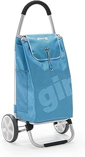 GIMI Galaxy Portaspesa, Carrello Portaspesa 2 Ruote, Telaio Richiudibile, Portata 30 kg, Capacità 50 Litri, Poliestere, Az...