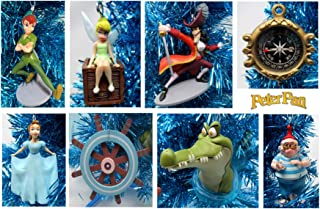 Ornament Peter PAN Christmas Tree Set Featuring Peter Pan and Friends - Unique Shatterproof Plastic Design