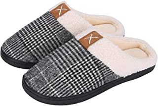 Puricon Women's Slippers, Soft Cozy Comfortable Memory Foam House Slippers Wool-Like Plush Fleece Lined House Shoes Non-Sl...