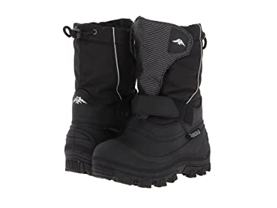 Tundra Boots Kids Quebec Wide (Toddler/Little Kid/Big Kid) (Black/Silver) Boys Shoes