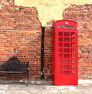 The King's Bay Red British London Telephone Booth Cast Iron Replica English Wood Old Stye Phone