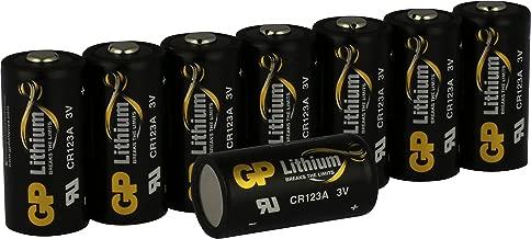 GP Lithium Batterien CR123A Schwarz-Gold (CR17345, 5018LC) 3 Volt für Digitalkameras, Camcorder, Alarmanlagen, Sicherheitstechnik, Rauchmelder, Taschenlampen, etc. (8 Stück)