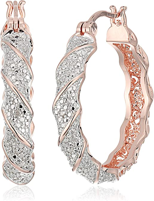 rose gold hoops unique jewelry findings