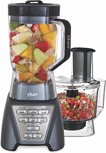 discount Oster Pro 1200 Blender 2021 with Professional Tritan wholesale Jar and Food Processor attachment, Metallic Grey outlet sale