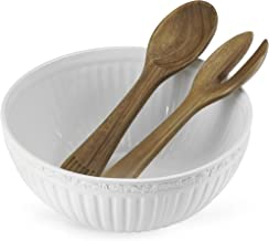 Mikasa Italian Countryside Salad Serving Bowl with Serving Utensils