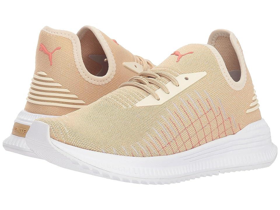 PUMA Avid evoKNIT (Pebble Birch Puma White) Women s Lace up casual Shoes 3b8690d5c