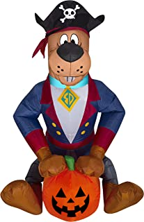 Gemmy 3' Airblown Scooby as Pirate Halloween Inflatable