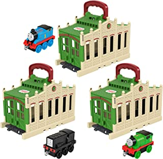 Thomas & Friends Connect & Go Sheds with Train Engines GWX08