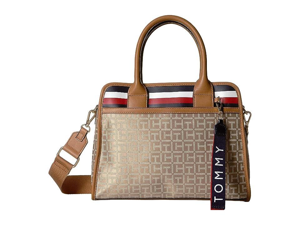Tommy Hilfiger Gianna Satchel (Khaki/Tonal) Handbags