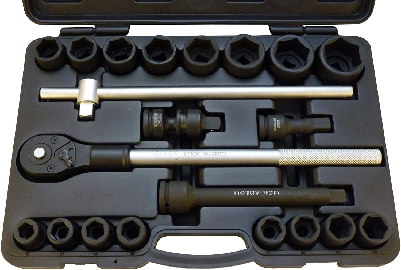 Kraft Steckschlüsselsatz 21-tlg 3 3 3 4  Knarren-Ratschen-Kasten LKW Traktor BUS B078G1WF1R | Innovation  75af82