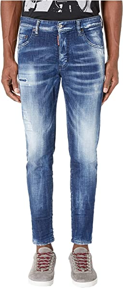 Army Fade Wash Skinny Dan Jeans in Blue