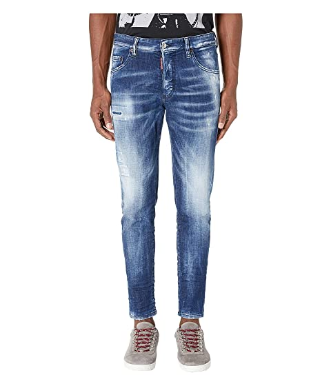 DSQUARED2 Army Fade Wash Skinny Dan Jeans in Blue