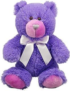 Anico Plush Teddy Bear, Stuffed Animal, Bright Purple, 8 Inches Tall